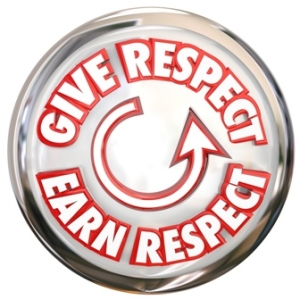 Give to Earn Respect Words White Button How to Win Reverence Honor Trust